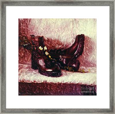 Still Life With Winter Shoes - 1 Framed Print