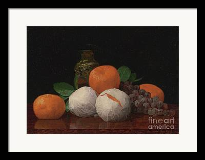 Still Life With Tangerines Paintings Framed Prints