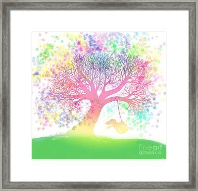 Still More Rainbow Tree Dreams 2 Framed Print by Nick Gustafson