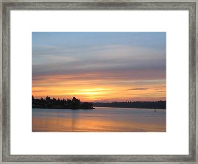 Still Morning Sunrise Framed Print by Valerie Josi