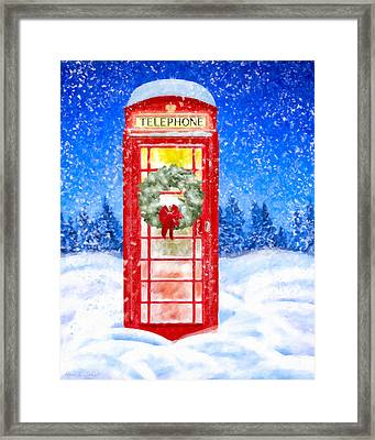 Still Night - A British Christmas Framed Print
