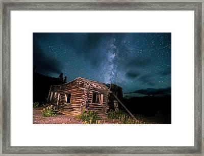 Still Night At Old Cabin Framed Print