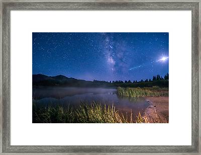 Still Night At Upper Molas Lake Framed Print by Michael J Bauer