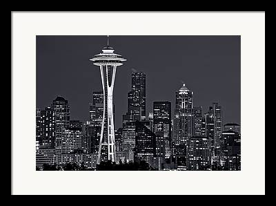 Downtown Seattle Framed Prints