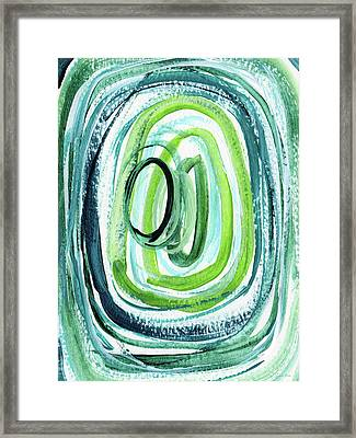 Still Orbit 9- Abstract Art By Linda Woods Framed Print