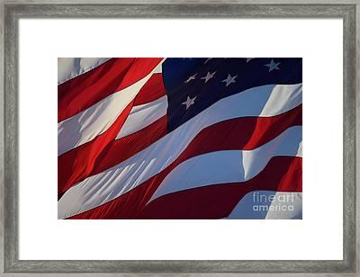 Still Our Flag. Framed Print