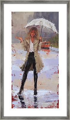 Still Raining Framed Print