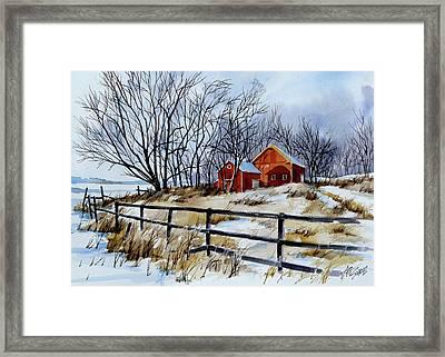 Still Some Snow Framed Print by Art Scholz