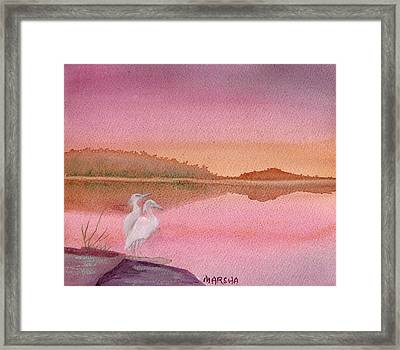 Still Sunset Framed Print