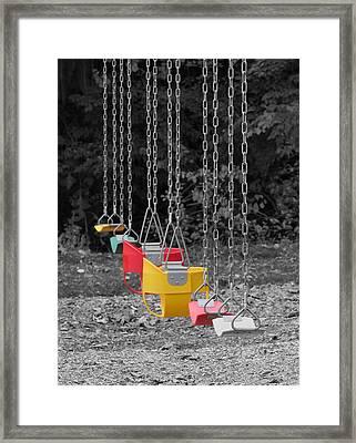 Still Swings Framed Print by Richard Reeve