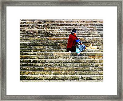Still Waiting Impatiently Framed Print by Al Bourassa