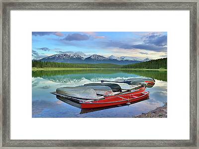 Framed Print featuring the photograph Still Waters At Lake Patricia by Tara Turner