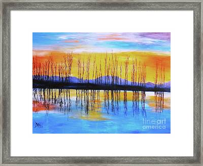 Still Waters From The Water Series  Framed Print