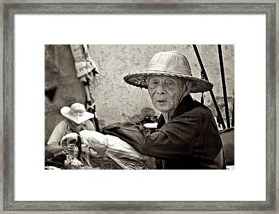 Still Working Framed Print by Valerie Rosen