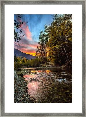 Stillaguamish Sunset Framed Print by Charlie Duncan