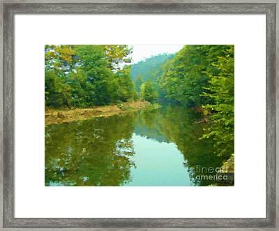 Stilling River Framed Print by Miroslav Nemecek