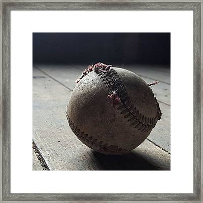 Baseball Still Life Framed Print