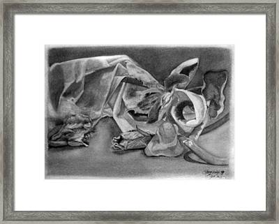 Stilllife Present Beauty Framed Print by Rebecca Tacosa Gray