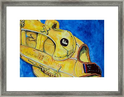 Stillmans Nylon Glove Framed Print by Jame Hayes