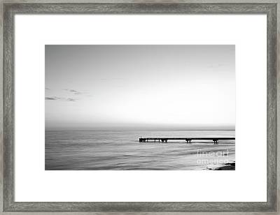 Stillness In Black And White Framed Print by Ivy Ho