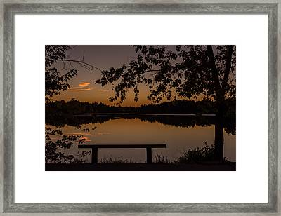 Stillness Speaks Lake Horicon Nj Framed Print