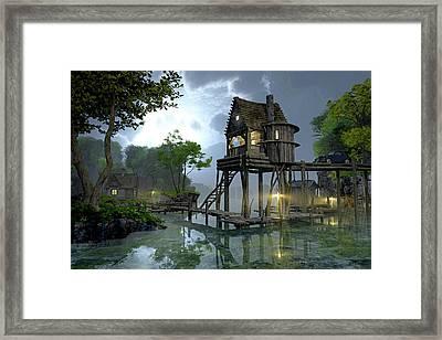 Stillwater Framed Print by Cynthia Decker