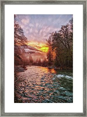 Stilly Sunset Framed Print by Charlie Duncan