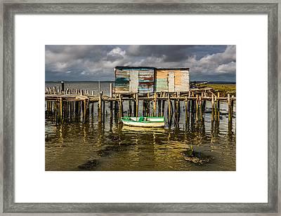 Stilt Houses In Historic Pier I Framed Print by Marco Oliveira