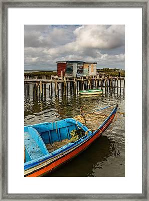 Stilt Houses In Historic Pier II Framed Print by Marco Oliveira