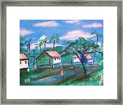 Stilt Houses Framed Print by Van Winslow
