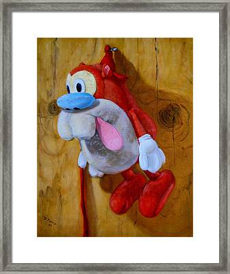 Stimpy Framed Print by Donelli  DiMaria