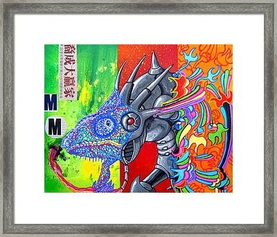 Sting Chameleon Framed Print by Jacob Wayne Bryner
