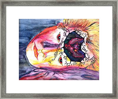 Sting Having A Nightmare Framed Print by Angela Murray