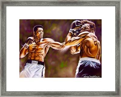 Sting Like A Bee Framed Print by Darryl Matthews