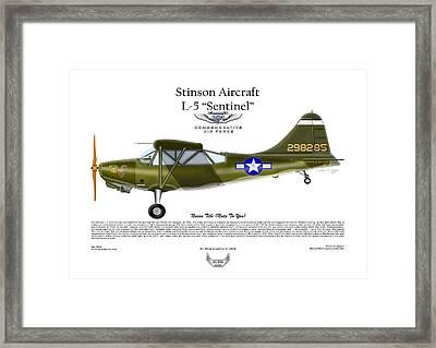 Stinson Aircraft L-5 Sentinel Framed Print