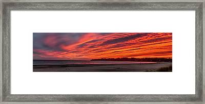 Stinson Beach Sunset Framed Print
