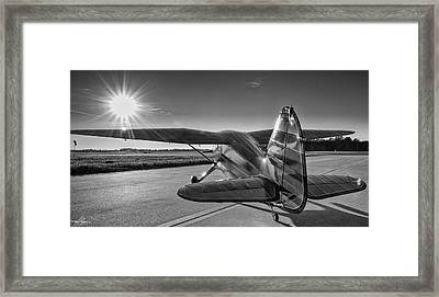 Stinson On The Ramp Framed Print