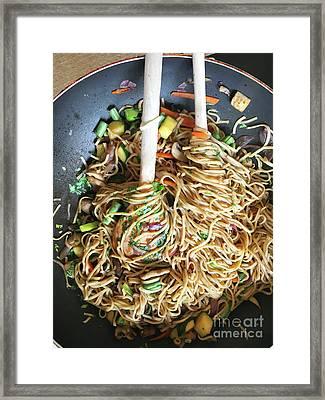 Stir Fry Noodles Framed Print by Tom Gowanlock