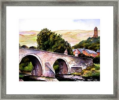 Framed Print featuring the painting Stirling Bridge by Marti Green