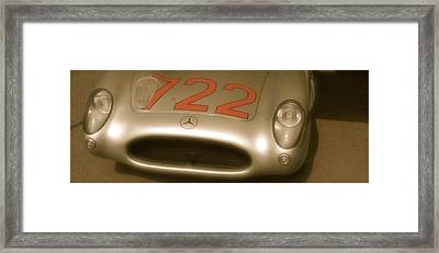 Stirling Moss 1955 Mille Miglia Winning 722 Mercedes Framed Print by John Colley
