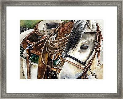 Stirrup Up Framed Print by Nadi Spencer