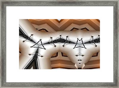 Stitched 1 Framed Print by Ron Bissett