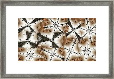Stitched 3 Framed Print by Ron Bissett