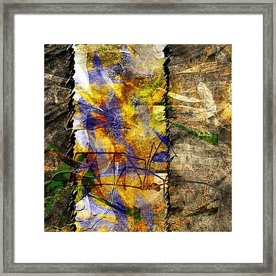 Stitched Framed Print by Monroe Snook