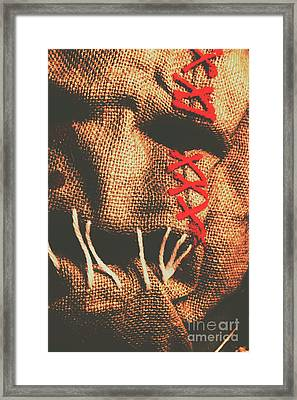 Stitched Up Madness Framed Print
