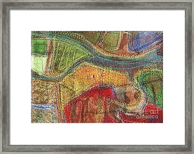 Stitched Waterways 3 Framed Print