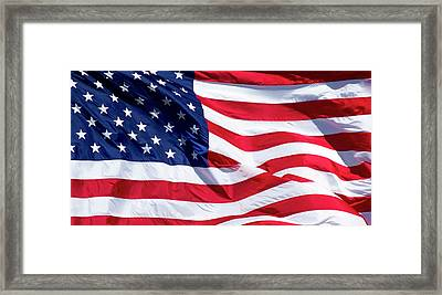 Stitches 2 Old Glory American Flag Art Framed Print by Reid Callaway
