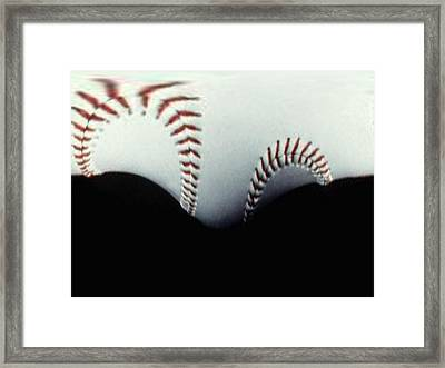 Stitches Of The Game Framed Print by Tim Allen