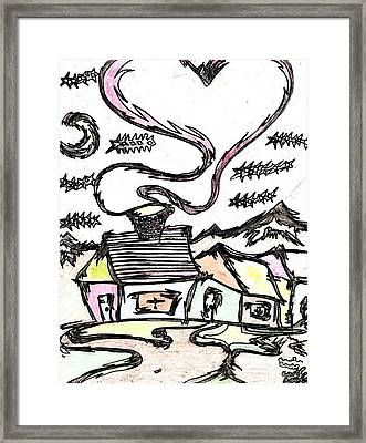 Stitchlip's House Framed Print by Levi Glassrock