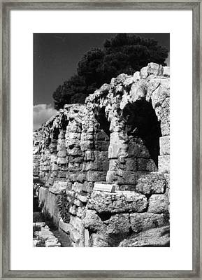Stoa Of Eumenes Athens Framed Print by Susan Chandler